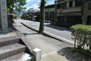 千反田がタクシーから折りた場所